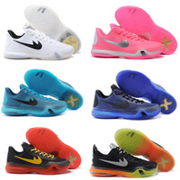 Wholesale Basketball Sneakers Authentic - New authentic original high quality kobe 10 men basketball shoes sneakers sports shoes online wholesale sales US size 7-12 free shipping