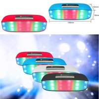Mini Bluetooth Wireless Bluetooth Wireless TF Card Supporto Supporto TF Card Hands-Free con 7 LED colorati LED luci Hifi portatile Night-Flash Music Box