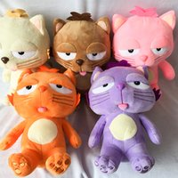 Wholesale Dolls 25 Cm - 25 cm Cute Cartoon Sleepy Cat Plush Toys Stuffed Animals Dolls for Children Birthday Christmas Gifts Wedding Party Decor