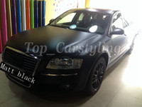 Wholesale Car Wrapping Matt - Satin Black Vinyl Car Wrap Film With Air release Matt Black Vinyl For Vehicle Wrapping Covering foil 1.52x20m  5x67ft )