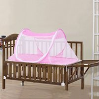 Wholesale New Baby Bed Nets Folding Mosquito Portable Folding Ship Type Babies Cradle Bed Infant Sleeping Crib Netting