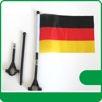 Wholesale Wholesale Bike Flags - Fedex freeshipping Bicycle flags custom make 21*14cm Digital Print 100D polyester pongee any logo any size customize bike flags with pole