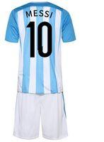 Wholesale Children S Summer Shorts - Camisetas de futbol argentina kids jerseys children boys 2016 2017 top quality messi kids jerseys