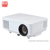 Wholesale Projection Mobiles - Wholesale-2000Lumens Wall Projection Data Show Mini LED Projector Project Professional Equipment Mobile Laptop PC Kidding Perfect Beam