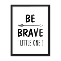 Wholesale Photos Paintings Free - Free shipping novelty gift encourage be brave little one words arrows pattern home decorative hanging poster photo picture