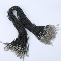 300pcs Black Wax Line Collier Pendentif Pendentifs Pendentifs Cord Longs Cordon Fermoir Corde 1.5mm, 18inch TOP1605