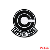Wholesale Dragon Ball Capsule - Dragon Ball Z Capsule corporation Logo embroidered Iron on Patch US Seller