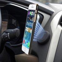 apfel iphone handy halterungen halter großhandel-Magnetischer Autotelefonhalter Armaturenbretthalter Ständer magnetischer Autotelefonhalter für das iPhone für Samsung-Handys