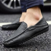 Wholesale Belgian Shoes - New 2017 Mens Leather Moccasins Loafers Black Suede Slippers Belgian Dress Shoes Casual Men Loafers With Bowtie Mens Flats