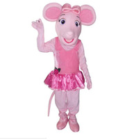 Wholesale Halloween Pig Costume - OISK Princess Angelina Ballerina Pig mascot costumes adult cartoon character halloween Christmas fancy dress costumes free shippig