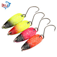 Wholesale Spinner Baits Fishing China - Rosewood Fishing First Class 20pcs 3g Spinner Metal Fishing Lure Fishing Spoon Tackle Paillette Sequins Spoon Lure Mix Color Hard Bait China