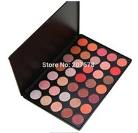 Wholesale Natural Warm Palette - Professional 35 Color Glitter Eyeshadow Palette Silky Powder Make up Pallete Cosmetics Smoky Warm Eye shadow Kit free shipping