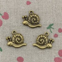 Wholesale Bronze Snail - 45pcs Charms garden snail 16*18mm Antique Bronze Pendant Zinc Alloy Jewelry DIY Hand Made Bracelet Necklace Fitting