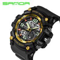 Wholesale Fancy Dates - 2017 Sanda Fancy Design Digital Watch Water Resistant Date Calendar Led Electronics Watches Men Military Army Sport Relogio Masculino
