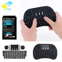 Wholesale Handheld Only - 2016 Wireless Keyboard rii i8 keyboards Fly Air Mouse Multi-Media Remote Control Touchpad Handheld for TV BOX Android Mini PC B-FS