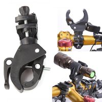 Black sport truck accessories - Outdoor Sports Cycling Bike Flashlight Mount Holder Bike Torch Holder Support Clip Clamp Lantern Bike Black Bicycle Accessories