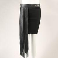 Wholesale Black Fringe Belt - Wholesale- New Arrival Female Fashion Long Fringe Tassel Leather Belt Punk Rivet Waist Belt for Clothes accessoriesBT1134