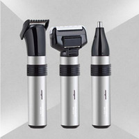 Wholesale Waterproof Trimmer Rechargeable - SM-515 3 in1 Electric Nose Trimmer for Men Rechargeable Hair Removal Face Eyebrow Ear Trimer waterproof safe and lasting beard trimmer