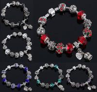 Wholesale Glass Heart Bulk - European Charm Murano Glass Beads Bracelet Jewelry Charms Shamballa Crystal Charms Beading Bangles Bracelets Wholesale In Bulk