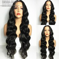 Wholesale Cheap Wavy Full Lace Wig - Cheap Wigs With Baby Hair Wavy Lace Front Human Hair Wigs Body Wave 180 Density Full Lace Wig For Women