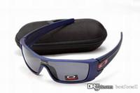 radsport-gläser großhandel-New Fashion OKLY Sonnenbrille Markendesigner Eyewear Bat W0LF UV400 OK Radfahren Outdoor Racing Sport Fahrrad Sonnenbrille mit Fällen