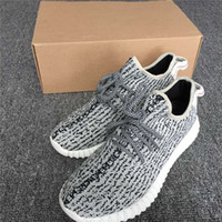Wholesale Oxford Shoes Man Suede - 350 Boost V1 Kanye West Running Shoes Pirate Black With Green Suede Turtle Dove Gray Oxford Tan Moonrock Mens Sports Shoe Outdoor Sneakers
