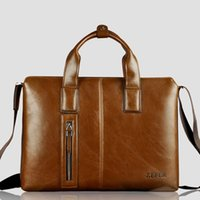 Wholesale Shoulder Handbag Casual Male Bags - Wholesale-2015 new ZEFER 100% genuine leather male briefcase portfolio,brand designer men business tote handbag shoulder bags AZ074