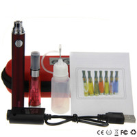 Wholesale best liquid bottle for sale - Group buy Best e cigarette CE4 evod Starter Kit evod ce4 single kits ce4 atomizer evod battery mal mal mal usb charger liquid bottle ecig