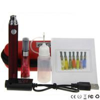 botella de metal para e liquido al por mayor-Mejor e cigarrillo CE4 evod Starter Kit evod ce4 solo kits ce4 atomizador evod batería 650mal 900mal 1100mal usb cargador botella líquida ecig