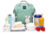 Wholesale Free Baby Nappies - Multifunction Baby Diaper Bag Mummy Backpack Large Capacity Tarvel Waterpoof Nappy Nursing Bags for Mom and Baby Care Backpack Free DHL