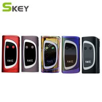 Wholesale Electronic Cigarette Led Batteries - Sigelei Kaos Spectrum Box Mod New Color 230W Fit 2*18650 Battery 0.96TFT Big Oled Display Vape Mod 6 Changeable LED Electronic Cigarettes