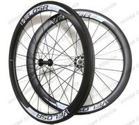 Wholesale Carbon Fiber Rims Bicycle - VELOSA! High quality Full carbon fiber 50mm depth Clincher Light Weight wheelset 700C 25mm width road bicycle carbon wheels U-shape rim
