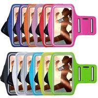 ingrosso braccio protegge-Braccialetti del telefono mobile palestra in esecuzione sport fascia del braccio copertura per iphone 4 s 5 s 5c 6 6 s 7 borse regolabile bracciale proteggere custodia custodia