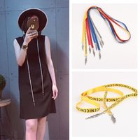 Wholesale Narrow Men S Ties - The new canvas belt belt belt all-match tie Long Dress Lady Yaolian micro belts wholesale