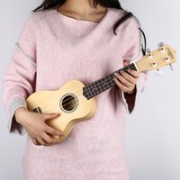 Wholesale Engraved Guitars - Wholesale-8 Colors 21 inch Ukelele 4 Strings Nylon Hawaiian Soprano Mini Guitar Musical Sapele Rosewood Fretboard Engraving Basswood Gifts