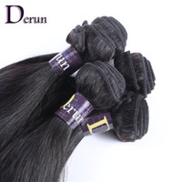 """Wholesale Extention Human Hair Indian - Derun Hair Summer Fashion!!Mix Length 12""""-30"""" 4 Bundles lot Indian Human Hair Weft Silky Straight Hair Extention Natural Color Free Shipping"""