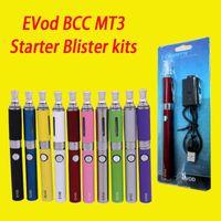 Wholesale Mt3 Blister Dhl - High Quality EVod BCC MT3 Starter Blister kits pack Electronic Cigarette mt3 Rechargable atomizer eVod Battery 650mah 900mah 1100mah DHL