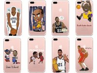 Wholesale Kobe Iphone Case - Basketball Sport Star KOBE James Pattern Phone Cover Case Silicone Soft TPU Gel Case for iPhone6 6s 5 5s 7 Plus 8 8plus