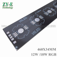 Vente en gros- 20 pièces / lot LED Bar Strip PCB Aluminium baord plat 9W / 12W 460 * 34mm pcb pour 1W 3W Tube light floodlight Plafonnier remplacement DIY