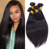 Wholesale weave ponytails for sale - Group buy Peruvian Virgin Hair Straight Weave Bundles Mink Brazilian Human Hair Extensions Remy Smooth Indian Human Hair Ponytail Double Weft Dyeable