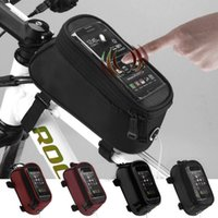 fahrradhalterung großhandel-Radfahren Fahrrad Fahrrad Rahmen Halter Pannier Handy Fit für 4,2 '', 4,8 '', 5,5 '' Tasche Beutel # ZH30101 kostenloser versand