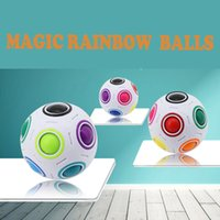 Wholesale Game Educational - 2017 NEWEST Rainbow Magic Balls Speed Football Fun Creative Spherical Puzzles Kids Educational Learning Toys games for Children Adult Gifts