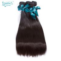 6a saç ürünleri toptan satış-Ucuz Düz Malezya Bakire Saç 4 Demetleri Sıcak Satış Saç Ürünleri Malezya Saç Örgü Demetleri 6a Işlenmemiş Bakire