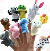 Wholesale family puppets for sale - Group buy 10 Baby Plush Toys Cartoon Happy Family Fun Animal Finger Hand Puppet Kids Learning Education Toys Gifts