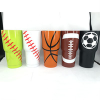 Wholesale Beer Boxes Wholesale - 30oz Baseball Cup Rambler Tumbler Mugs 304 Stainless Steel Vacuum Insulation Cup Beer Bar Dining Mugs Travel Cups 24pcs box HH-C01