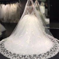 Wholesale make shirts free online - Scoop Neck Ball Gown Wedding Dresses Appliques Beaded Button Back Vestidos De Noiva Bridal Wedding Gowns Robe De Mariage