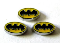 Wholesale Batman Charms - 20PCS lot Batman Floating Locket Charms Fit For Glass Living Magnetic Locket Jewelry Making For Friends