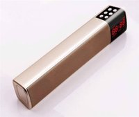 Wholesale portable mp3 player price online - S2028 LCD Screen Digital Display Long Cuboid Wireless Bluetooth Speaker Portable Stereo Sound TF USB Mp3 Music Player Cheap Price