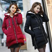 Wholesale Long Military Coats For Women - New Thicken Winter jacket Jackets parkas for Women Long Military Down Cotton Coats Plus Size Women Winter Coats