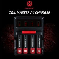 Wholesale Authentic Coil Master A4 Charger for charging lithium battery battery slot VS Nitecore D4 Intelligent Digicharger